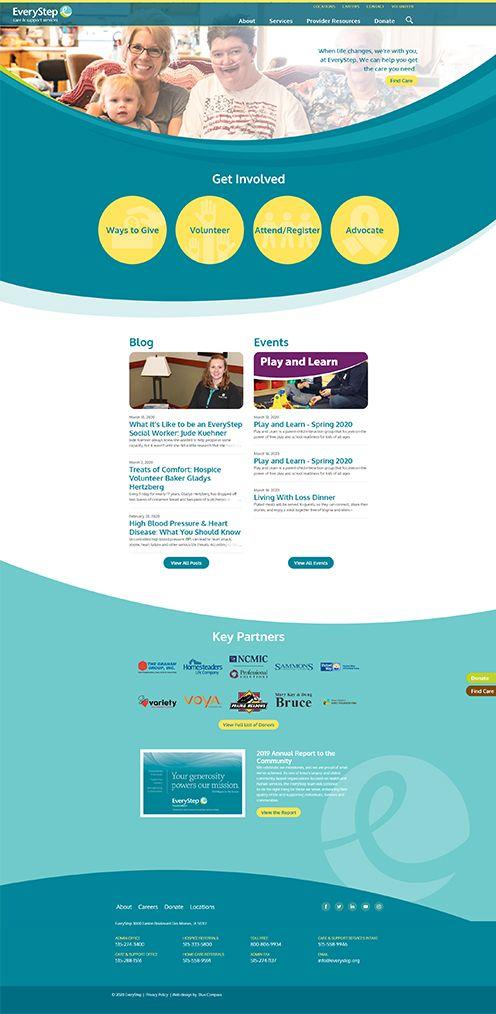 Nonprofit Web Design In 2020 Web Design Nonprofit Web Design Blue Compass