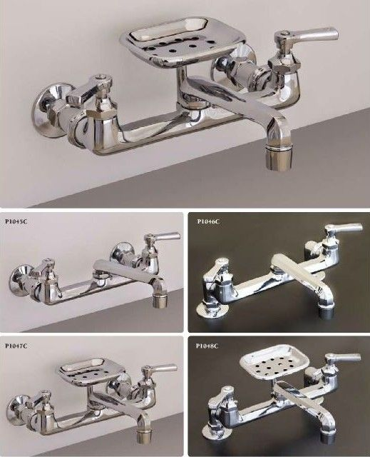 View the ProFlo PF80012 Double Handle Wall Mounted Kitchen Faucet