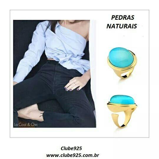 Anel de pedra natural 154,00 www.clube925.com.br Vendas também pelo whatsApp:11.99474.3223