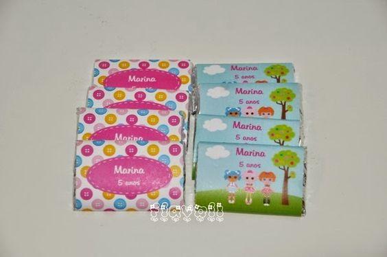 Chocolate personalizado–Lalaloopsy  :: flavoli.net - Papelaria Personalizada :: Contato: (21) 98-836-0113 vendas@flavoli.net