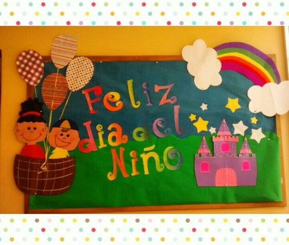 Peri dico mural d a del ni o d a del ni o pinterest for Decoracion para pared dia de la madre