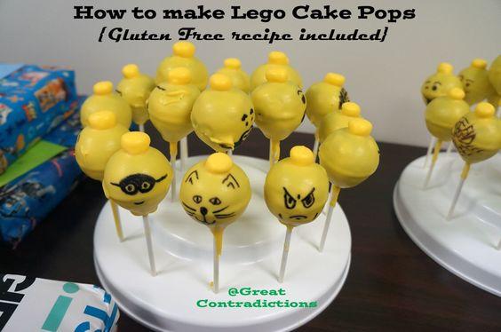 Easily make Lego Cake Pops {Gluten free recipe included} Cake for women #cake #sweet
