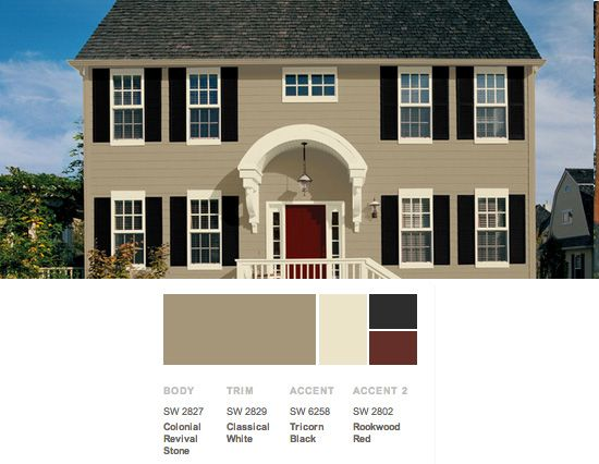 Exterior color scheme from the lush forests of the for Home colour combination outside