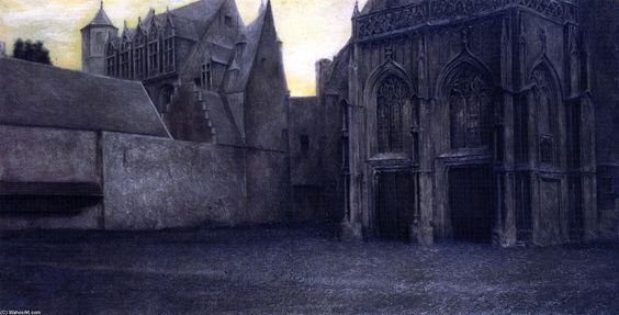 , Oil on canvas by Fernand Edmond Jean Marie Khnopff (1858-1921, Belgium)