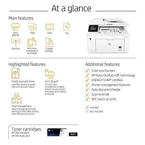 Hp Laserjet Pro M227fdw All In One Wireless Laser Printer Amazon Dash Replenishment Ready G3q75a Replaces Hp M225dw Laser Pr Laser Printer Wireless Printer