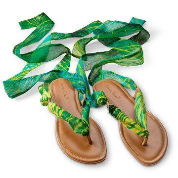 Alessia Solari: Bahia Sandals Green