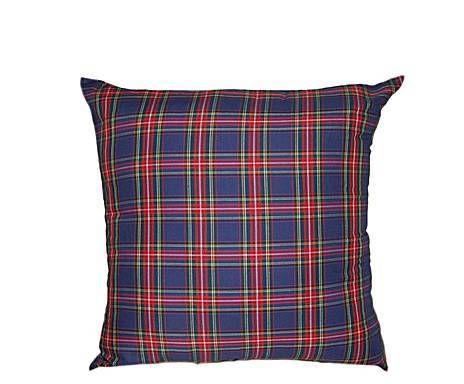 Coussin Coton et polyester, Rouge et bleu marine - 55*55
