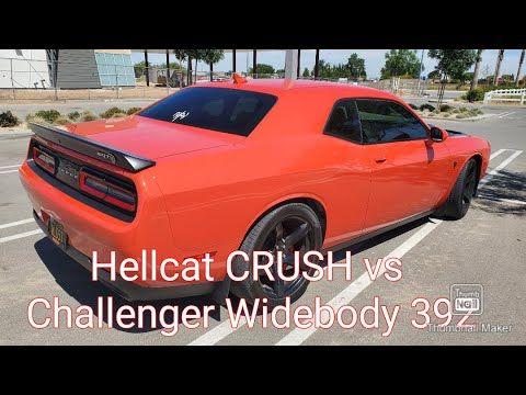 Hellcat Crush Vs Challenger Wide Body 392 Hemi Wide Body Hellcat Challenger