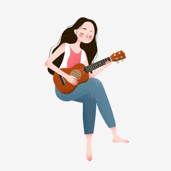 Sitting Girl Element Playing Guitar Playing Guitar Girl Guitar Png Transparent Image And Clipart For Free Download Sitting Girl Playing Guitar Cute Girl Wallpaper