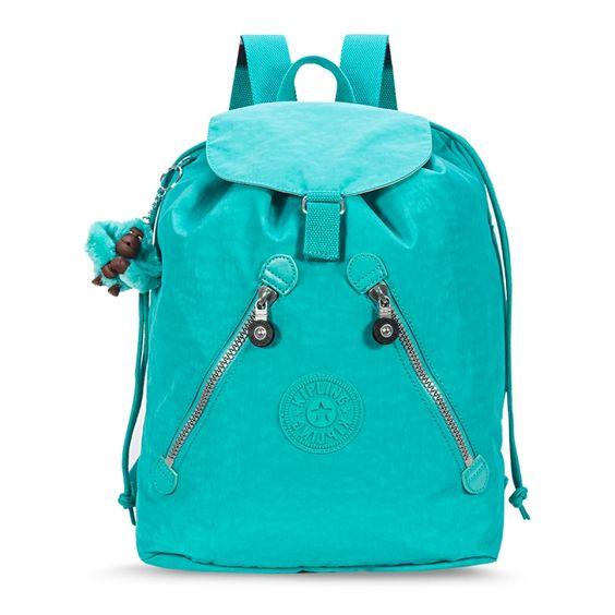Mochila Fundamental turquesa Cool Turquoise Kipling: