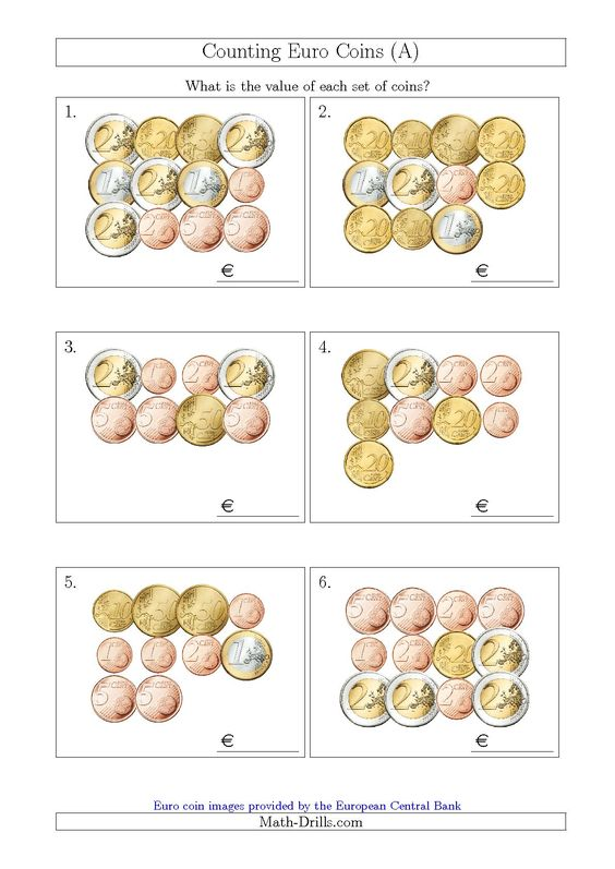 math worksheet : euro coins euro and coins on pinterest : Sen Maths Worksheets