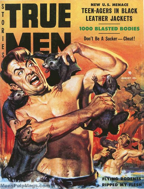 TRUE MEN STORIES, August 1957. Cover painting by Wil Hulsey by SubtropicBob, via Flickr: