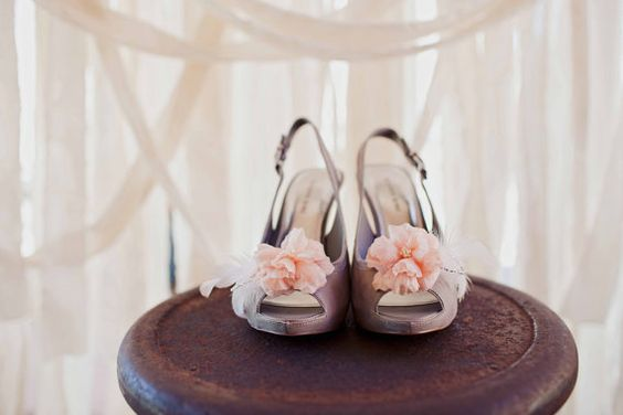 Because shoes are an important part of a wedding dress, they deserve their own little flair as well!