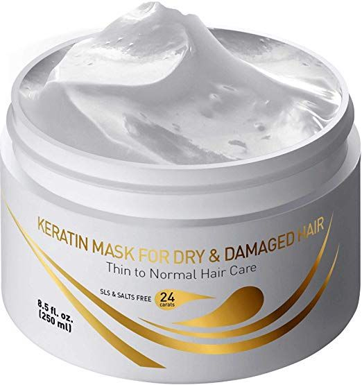Vitamins Keratin Hair Mask Deep Conditioner Thin Fine Hair Keratin Argan Silk Hydrating Complex To Repair Dry Damaged Ha Keratin Hair Hair Mask Thin Dry Hair