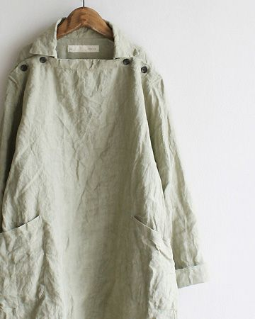 Tunic with buttons, from Saro. #linen