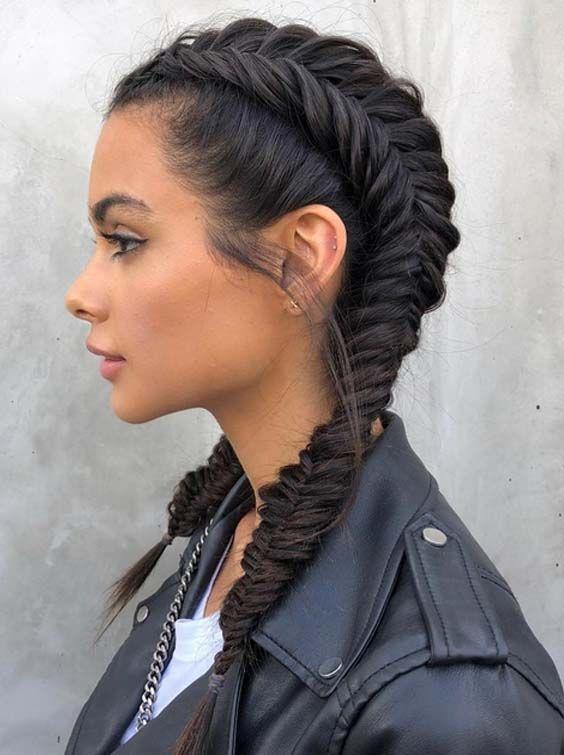 35 Fishtail Dutch Pigtail Braid Creations Hair Styles Braided Hairstyles Easy Cute Hairstyles For Teens