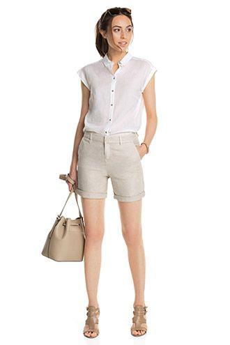 Esprit / Zarte Bluse aus 100% Baumwolle