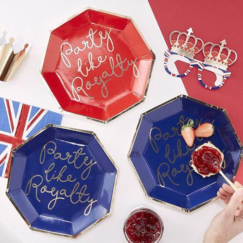 Royal Wedding Party Royal Wedding Cups Union Jack Party Harry Meghans Wedding Red Blue Royal Wedding Tableware 8 Union Jack Cups