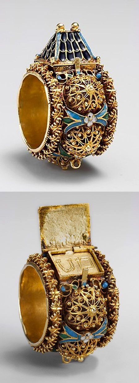 Jewish betrothal ring, ca. 17th–19th century. Venice or Eastern Europe. The Metropolitan Museum of Art, New York.: