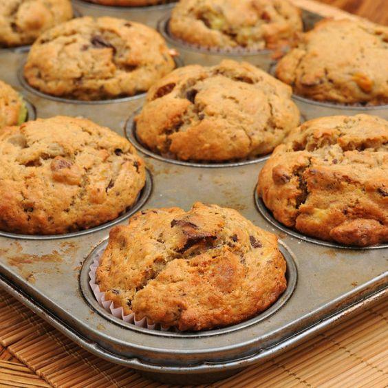 Muffins de banana y avena para corredores | #Recetas                                                                                                                                                     Más