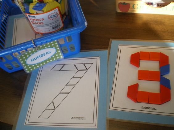 Pattern Block Templates and other math station ideas