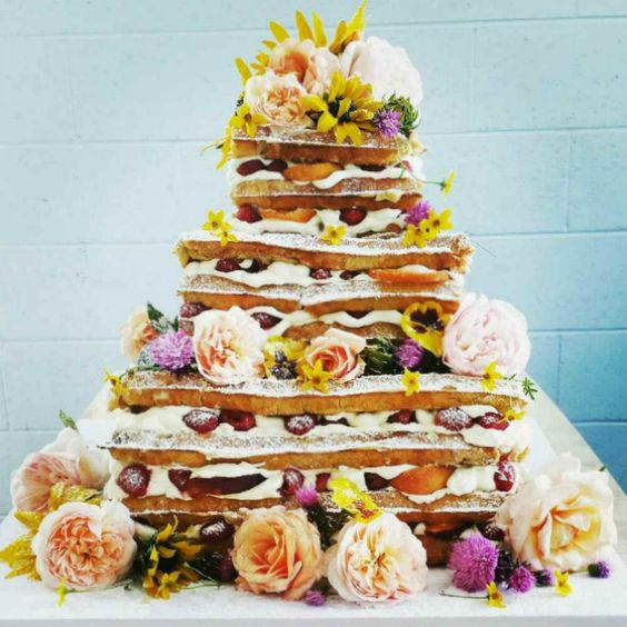 17 Wild Waffle Wedding Cakes That Make Us Want Waffle Cakes for *Every Occasion* via Brit + Co: