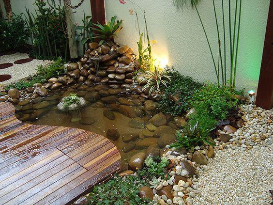 Lagos ornamentais com deck de madeira pesquisa google for Ornamental garden ponds