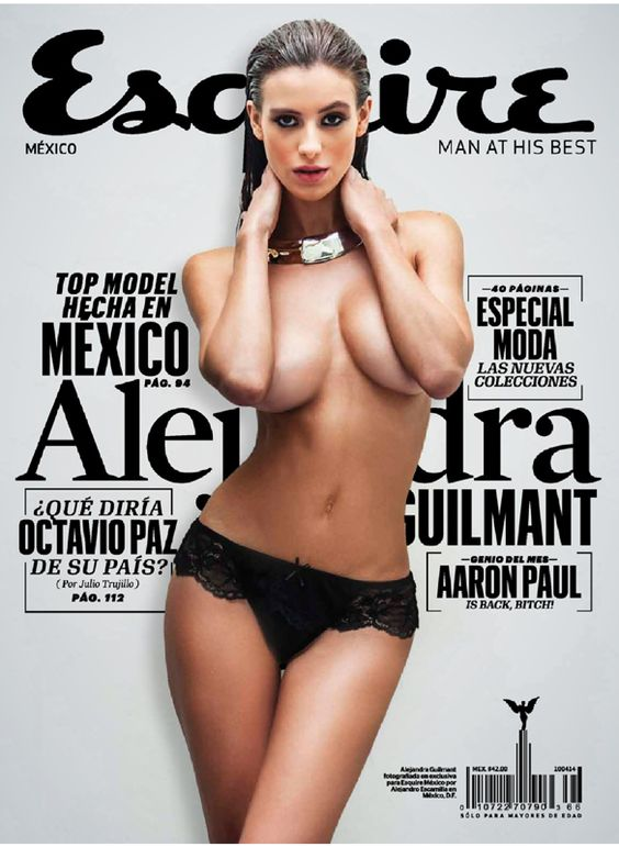 Alejandra Guilmant sexy expose images at Esquire (Mexico) magazine- Mar. 2014