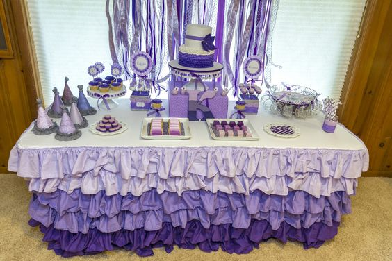 Crafty Workin Mommy: Ruffles and Ribbons Birthday Party Part 1, the dessert table