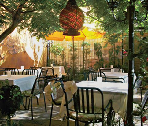 Mediterranean Style Food Served In A Charming Backyard Garden. |  Gastronomic Delights   My Favorite Restaurants | Pinterest | Mediterranean  Style, ...