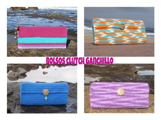 BOLSOS CLUCTH  GANCHILLO