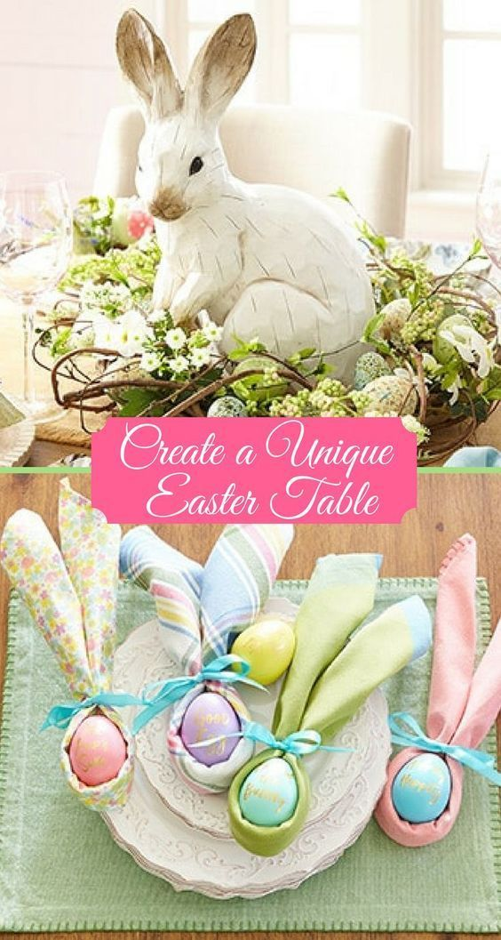 Adorable Easter Table Ideas I Can T Wait To Try These Easter Ad Springdecor Easter Napkins Easter Table Easter Table Decorations