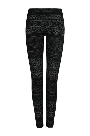Legging Noir & Gris à Motif Aztèque tally weijl