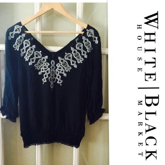 White House Black Market tunic XS Gorgeous tunic from White House Black Market Sz XS. Made with 100% silk. White House Black Market Tops Tunics