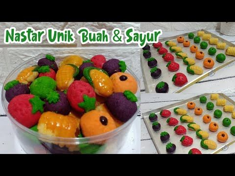 Resep Nastar Unik Buah Sayur Nastar Gulung Manggis Jagung Strawberry Labu Apel Youtube Nastar Buah Sayuran