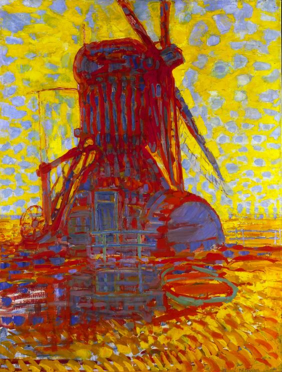 Piet Mondriaan, Mill in sunlight, 1908, oil on canvas, 114 x 87 cm. Gemeentemuseum Den Haag.