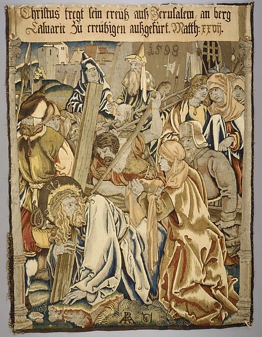 Christ Carrying the Cross from a set of The Passion, 1598 (after Dürer ):