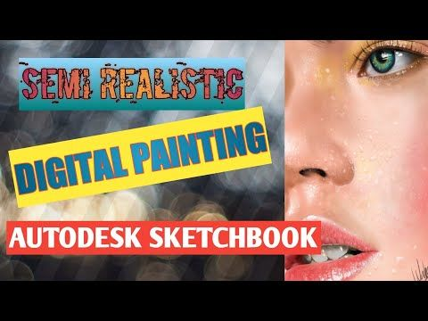 Digital Painting Cara Menggambar Wanita Yang Realistis Sketsa Autodesk Youtube Sketsa Melukis Wajah Painting