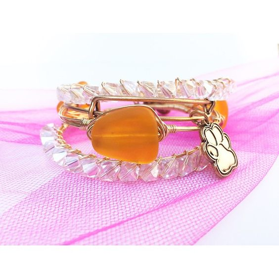 Wire wrapped bangles that they sell in boutiques for much cheaper!