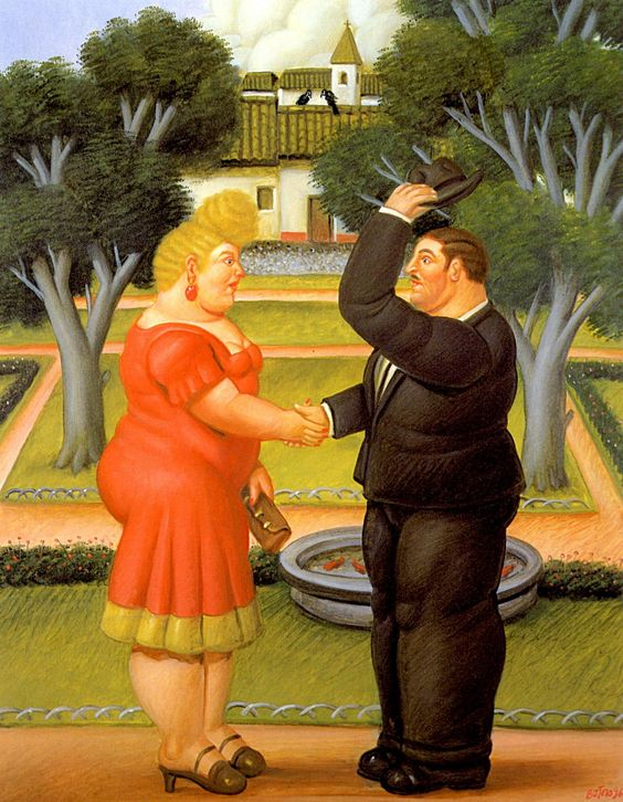 Good Morning - Fernando Botero, 1996  #botero #paintings #art