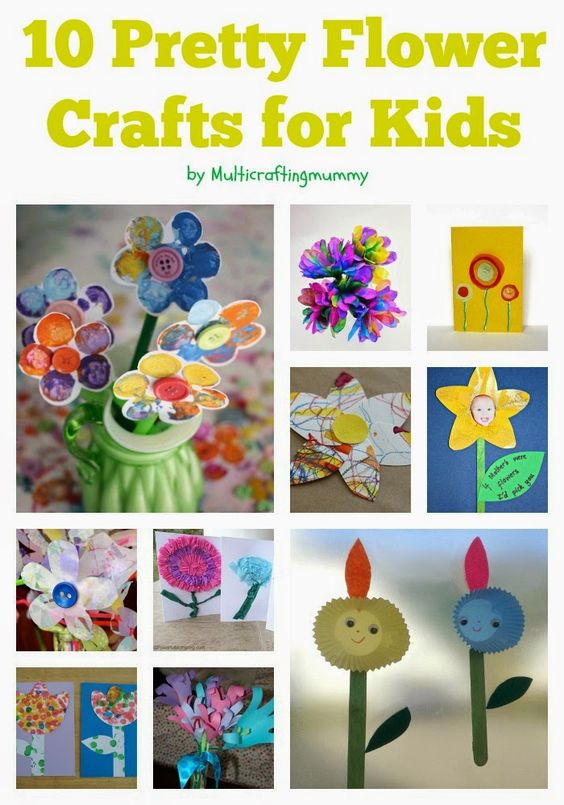 Flower arts and crafts activities for kids of all ages for Fun crafts for all ages
