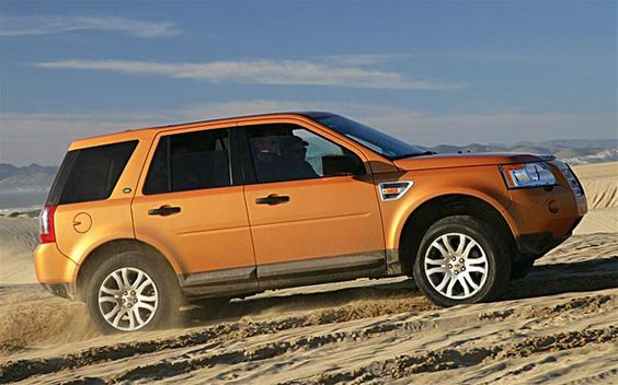 My LandRover LR2 - yes it's orange too - best small SUV.  I was a little hesitant at the bold color, but now orange is my favorite color.