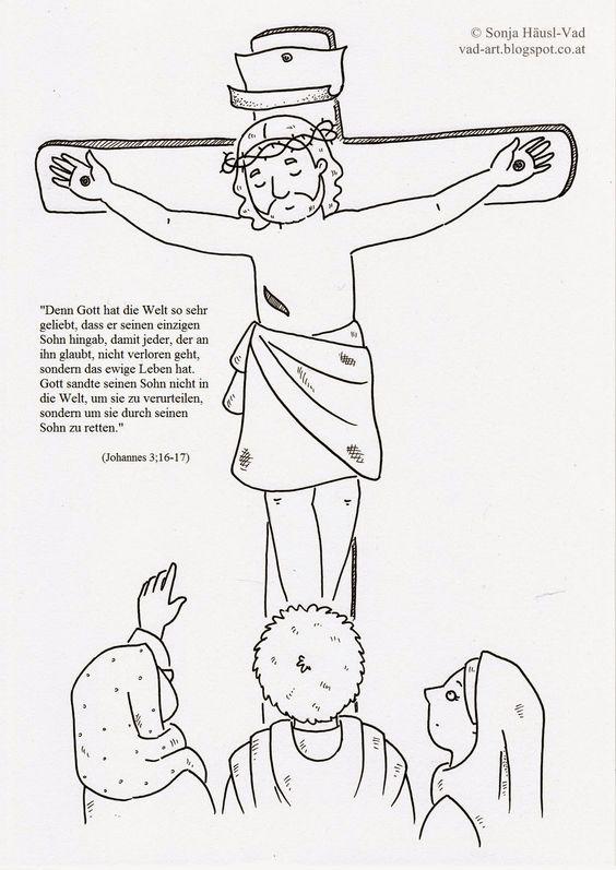 Beste Jesus Auf Dem Kreuz Malvorlagen Für Kinder Bilder - Ideen ...
