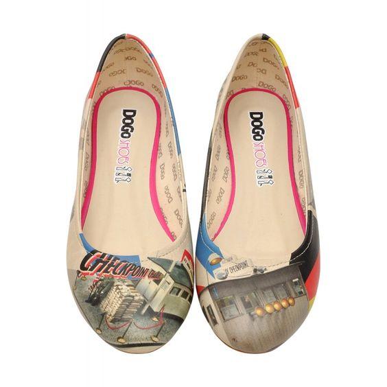 DOGO Ballerina - Checkpoint charlie #dogogermany #dogoshoes #printedshoes #print #fashioninspiration #spring2015 #summer2015