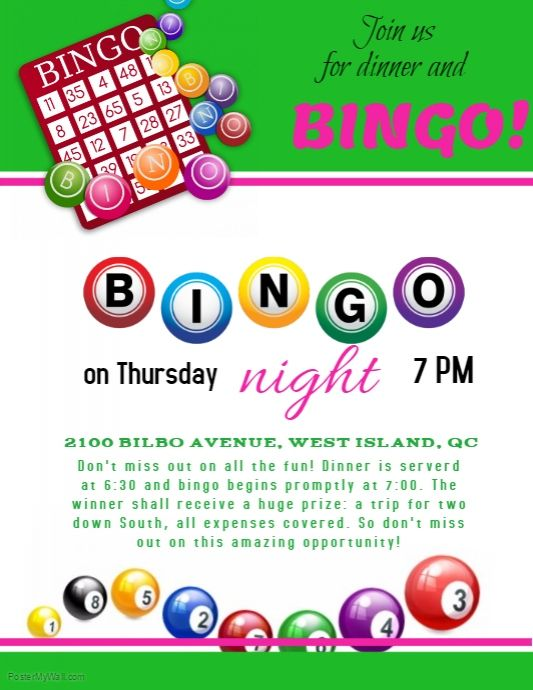 Free Bingo Flyer Template Word
