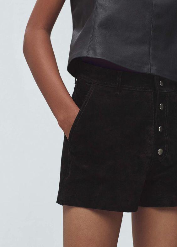 Shorts de pele | MANGO