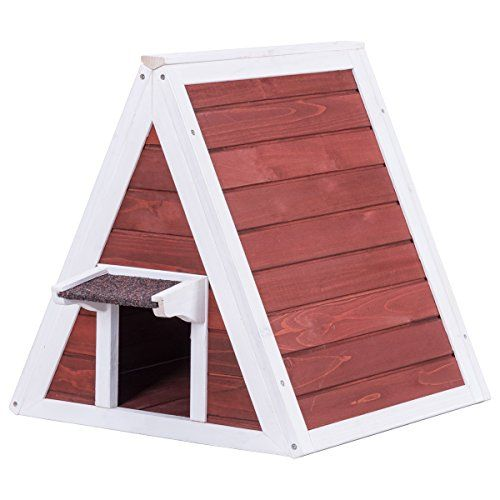 Tangkula Cat House Wood Indoor Outdoor Weatherproof Pet K Https Www Dp B077vhtxdg Ref Cm Wooden Cat House Outdoor Cat House Outdoor Cat Shelter