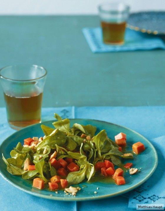 Mit Senf-Vinaigrette und Cashewkernen leicht verschärft und herrlich bissig.