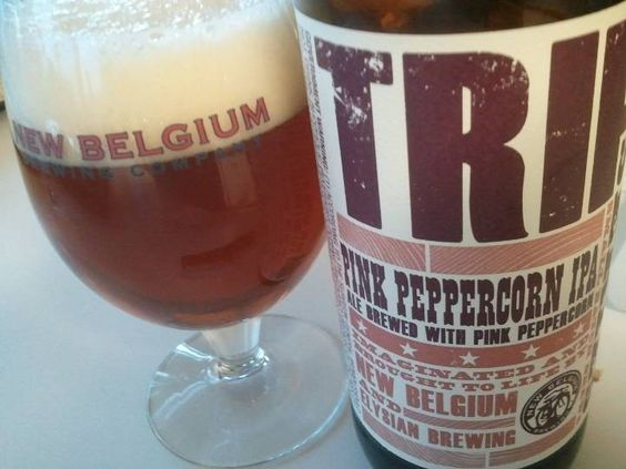 new belgium brewing trip pink peppercorn ipa