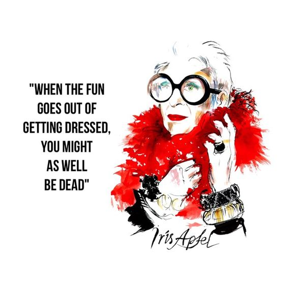Iris Apfel is a genius! Keep the fun in your style. Keep it ethical, fun and totally you. Christian clothing.: